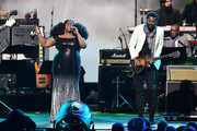 (L-R) Yola and Gary Clark Jr. perform onstage during MusiCares Person of the Year honoring Aerosmith at West Hall at Los Angeles Convention Center on January 24, 2020 in Los Angeles, California.