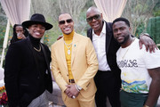 (L-R) Ne-Yo, T.I., Dave Chappelle and Kevin Hart attend 2020 Roc Nation THE BRUNCH on January 25, 2020 in Los Angeles, California.