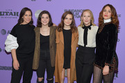 """(L-R) Miriam Shor, Molly Brown, Oona Laurence, Amy Ryan, and Lola Kirke attend the 2020 Sundance Film Festival - """"Lost Girls"""" Premiere at Eccles Center Theatre on January 28, 2020 in Park City, Utah."""