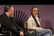 Ai Weiwei and Kerry Washington speak at the 2020 Sundance Film Festival - Power Of Story: Just Art Panel at Egyptian Theatre on January 25, 2020 in Park City, Utah.