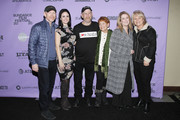 """Ron Howard, Carly Jean Ingersoll, Steve """"Woody"""" Culleton, Michelle John attend the """"Rebuilding Paradise"""" premiere during the 2020 Sundance Film Festival at Prospector Square Theatre on January 24, 2020 in Park City, Utah."""