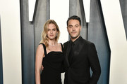 (L-R) Shannan Click and Jack Huston attend the 2020 Vanity Fair Oscar Party hosted by Radhika Jones at Wallis Annenberg Center for the Performing Arts on February 09, 2020 in Beverly Hills, California.