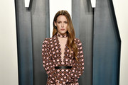 Riley Keough attends the 2020 Vanity Fair Oscar Party hosted by Radhika Jones at Wallis Annenberg Center for the Performing Arts on February 09, 2020 in Beverly Hills, California.