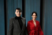 Marilyn Manson and Lindsay Usich attend the 2020 Vanity Fair Oscar Party hosted by Radhika Jones at Wallis Annenberg Center for the Performing Arts on February 09, 2020 in Beverly Hills, California.