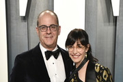 (L-R) David Nevins and Andrea Blaugrund Nevins attend the 2020 Vanity Fair Oscar Party hosted by Radhika Jones at Wallis Annenberg Center for the Performing Arts on February 09, 2020 in Beverly Hills, California.