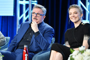 "Nathan Lane and Natalie Dormer of ""Penny Dreadful: City of Angels"" speak during the Showtime segment of the 2020 Winter TCA Press Tour  at The Langham Huntington, Pasadena on January 13, 2020 in Pasadena, California."