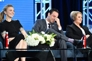 """(L-R) Natalie Dormer, Daniel Zovatto and Ariana Barraza of """"Penny Dreadful: City of Angels"""" speak during the Showtime segment of the 2020 Winter TCA Press Tour  at The Langham Huntington, Pasadena on January 13, 2020 in Pasadena, California."""