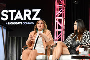 "Tanya Saracho and Melissa Barrera of ""Vida"" speak during the Starz segment of the 2020 Winter TCA Press Tour  at The Langham Huntington, Pasadena on January 14, 2020 in Pasadena, California."
