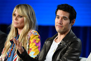 Heidi Klum and Joseph Altuzarra of Amazon Prime's 'Making the Cut' speak onstage during the 2020 Winter TCA Tour Day 8 at The Langham Huntington, Pasadena on January 14, 2020 in Pasadena, California.