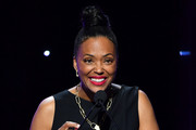 Aisha Tyler speaks onstage during the 2020 Writers Guild Awards West Coast Ceremony at The Beverly Hilton Hotel on February 01, 2020 in Beverly Hills, California.