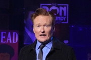 Conan O'Brien accepts the Best Comedy Podcast award for 'Conan O'Brien Needs A Friend' onstage during the 2020 iHeartRadio Podcast Awards at iHeartRadio Theater on January 17, 2020 in Burbank, California.