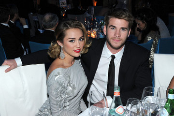 Miley Cyrus Liam Hemsworth 20th Annual Elton John AIDS Foundation Academy Awards Viewing Party - Inside