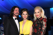 Musician Dave Grohl, Jordyn Blum and singer Gwen Stefani attend the 20th Annual Elton John AIDS Foundation Academy Awards Viewing Party at The City of West Hollywood Park on February 26, 2012 in Beverly Hills, California.
