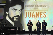 Juanes accepts the Person Of The Year Award onstage during the Latin Recording Academy's 2019 Person of the Year gala honoring Juanes at the Premier Ballroom at MGM Grand Hotel & Casino on November 13, 2019 in Las Vegas, Nevada.