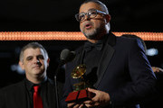 Luis Enrique and C4 Trio accept award for Best Folk Album onstage at the Premiere Ceremony during the 20th annual Latin GRAMMY Awards at MGM Grand Garden Arena on November 14, 2019 in Las Vegas, Nevada.