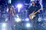 Alessia Cara and Juanes perform onstage during the 20th annual Latin GRAMMY Awards at MGM Grand Garden Arena on November 14, 2019 in Las Vegas, Nevada.