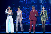 (L-R) Greeicy, Aitana, Alejandro Sanzs and Nella perform onstage during the 20th annual Latin GRAMMY Awards at MGM Grand Garden Arena on November 14, 2019 in Las Vegas, Nevada.