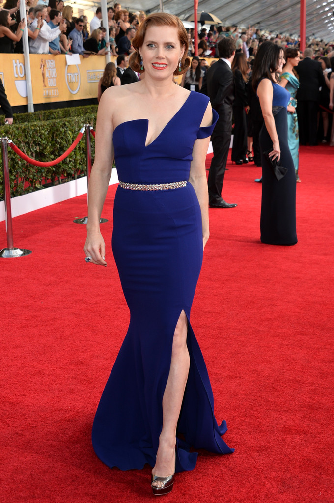 Amy Adams attends the 20th Annual Screen Actors Guild Awards at The Shrine Auditorium on January 18, 2014 in Los Angeles, California.