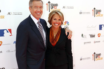 Brian Williams Katie Couric 21010 Stand Up To Cancer - Rehearsals