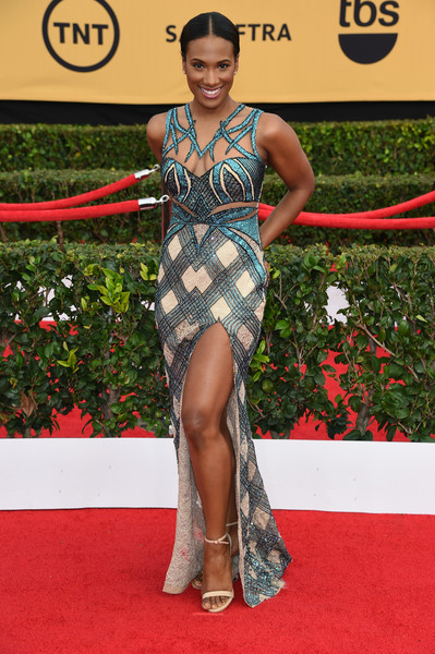 Actress Vicky Jeudy attends the 21st Annual Screen Actors Guild Awards at The Shrine Auditorium on January 25, 2015 in Los Angeles, California.