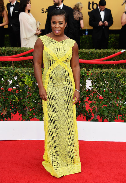 Actress Uzo Aduba attends the 21st Annual Screen Actors Guild Awards at The Shrine Auditorium on January 25, 2015 in Los Angeles, California.