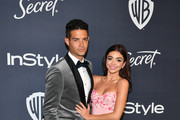 (L-R) Wells Adams and Sarah Hyland attend the 21st Annual Warner Bros. And InStyle Golden Globe After Party at The Beverly Hilton Hotel on January 05, 2020 in Beverly Hills, California.