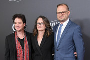 (L-R) John Penotti, Nina Jacobson, and Bradford Simpson attend the 22nd Annual Hollywood Film Awards at The Beverly Hilton Hotel on November 4, 2018 in Beverly Hills, California.