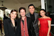 (L-R) Michelle Yeoh, John Penotti, Henry Golding, and Constance Wu attend the 22nd Annual Hollywood Film Awards at The Beverly Hilton Hotel on November 4, 2018 in Beverly Hills, California.