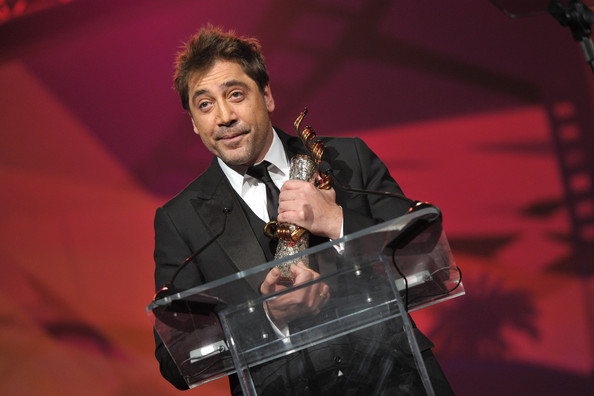 Actor Javier Bardem accepts the International Star Award onstage at the 22nd Annual Palm Springs International Film Festival Awards Gala at the Palm Springs Convention Center on January 8, 2011 in Palm Springs, California.