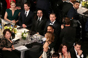 (L-R) Actress Kate Winslet, Ned Rocknroll, Leonardo DiCaprio and Alejandro Gonzalez Inarritu attend The 22nd Annual Screen Actors Guild Awards at The Shrine Auditorium on January 30, 2016 in Los Angeles, California. 25650_022