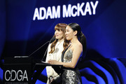 Lorene Scafaria and Constance Wu speak onstage at the 22nd CDGA (Costume Designers Guild Awards) at The Beverly Hilton Hotel on January 28, 2020 in Beverly Hills, California.