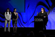 Susan Matheson (R) speaks onstage during the 22nd CDGA (Costume Designers Guild Awards) at The Beverly Hilton Hotel on January 28, 2020 in Beverly Hills, California.