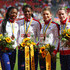 Shana Cox Photos - Bronze medalists (R-L) Eilidh Child, Kelly Massey, Shana Cox and Margaret Adeoye of Great Britain and Northern Ireland stand on the podium during the medal ceremony for the Women's 4 x 400m Relay Final during day six of the 22nd European Athletics Championships at Stadium Letzigrund on August 17, 2014 in Zurich, Switzerland. - 22nd European Athletics Championships: Day 6