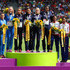 Hrystyna Stuy Photos - (L-R) Silver medalists Ukraine, gold medalists France and bronze medalists Great Britain and Northern Ireland stand on the podium during the medal ceremony for the Women's 4 x 400m Relay Final during day six of the 22nd European Athletics Championships at Stadium Letzigrund on August 17, 2014 in Zurich, Switzerland. - 22nd European Athletics Championships: Day 6