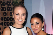 Actresses Malin Akerman (L) and Emmanuelle Chriqui attend the 23rd Annual Environmental Media Awards presented by Toyota and Lexus at Warner Bros. Studios on October 19, 2013 in Burbank, California.