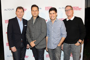 (L-R) Chef Bobby Flay, actor Josh Charles, Michael Weber and author Marshall Fine attend day 1 of the 23rd Annual Hamptons International Film Festival on October 8, 2015 in East Hampton, New York.