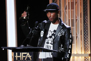 Pharrell Williams  appears on stage at the 23rd Annual Hollywood Film Awards show at The Beverly Hilton Hotel on November 03, 2019 in Beverly Hills, California.