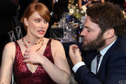 (L-R) Actors Bryce Dallas Howard and Seth Gabel attend the 23rd Annual Screen Actors Guild Awards Cocktail Reception at The Shrine Expo Hall on January 29, 2017 in Los Angeles, California.
