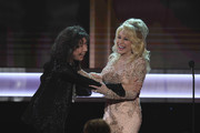 Actor Lily Tomlin (L) accepts the 2016 SAG Life Achievement Award from actor/singer Dolly Parton onstage during The 23rd Annual Screen Actors Guild Awards at The Shrine Auditorium on January 29, 2017 in Los Angeles, California. 26592_014
