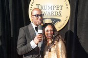 Isaac Carree interviews Chante Moore on the red carpet during the 23rd Annual Trumpet Awards at Cobb Energy Performing Arts Center on January 24, 2015 in Atlanta, Georgia.