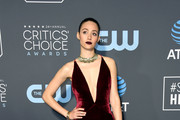 Emmy Rossum attends the 24th annual Critics' Choice Awards at Barker Hangar on January 13, 2019 in Santa Monica, California.