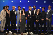 The cast and crew of The Assassination of Gianni Versace: American Crime Story accept the award for Best Limited Series onstage during the 24th annual Critics' Choice Awards at Barker Hangar on January 13, 2019 in Santa Monica, California.
