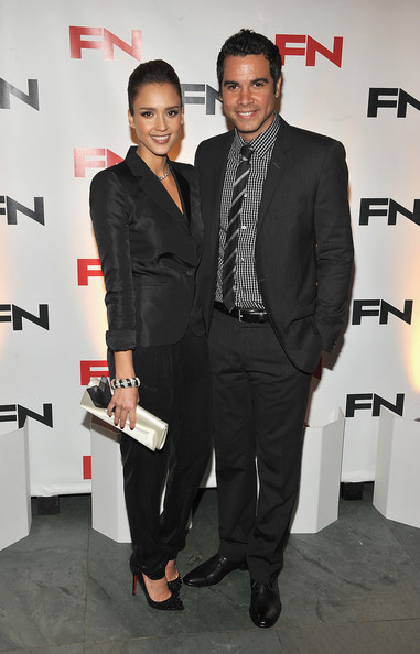 Jessica Alba and Cash Warren attend the 24th Annual Footwear News Achievement Awards at The Museum of Modern Art on November 30, 2010 in New York City.