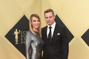 Actors Natalie Zea and Travis Schuldt attend the 24th Annual Screen ActorsGuild Awards at The Shrine Auditorium on January 21, 2018 in Los Angeles, California.