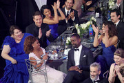 (L-R) Actors Chrissy Metz, Ryan Michelle Bathe, Sterling K. Brown and Mandy Moore during the 24th Annual Screen Actors Guild Awards at The Shrine Auditorium on January 21, 2018 in Los Angeles, California. 27522_014
