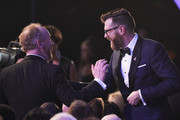 Actors Matt Walsh (L) and Timothy Simons (R) during the 24th Annual Screen ActorsGuild Awards at The Shrine Auditorium on January 21, 2018 in Los Angeles, California.