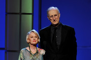 Actors Tippi Hedren (L) and James Cromwell appear onstage at the 25th Anniversary Genesis Awards at the Century Plaza Hotel on March 19, 2011 in Los Angeles, California.