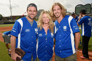 (L-R) Charles Esten, Deana Carter and Bucky Covington showed of their softball skills for charity at City of Hope's 25th Annual Celebrity Softball Game at the new First Tennessee Park during CMA Music Festival in Nashville.