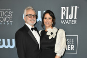 (L-R) Bradley Whitford and Amy Landecker attend the 25th Annual Critics' Choice Awards at Barker Hangar on January 12, 2020 in Santa Monica, California.