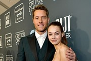 (L-R) Isabella Hartley and Justin Hartley attend the 25th Annual Critics' Choice Awards at Barker Hangar on January 12, 2020 in Santa Monica, California.